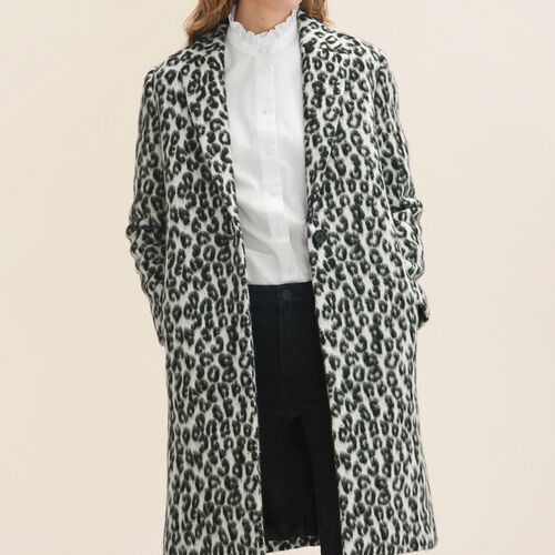Leopard-print frock coat : Coats & Jackets color Print