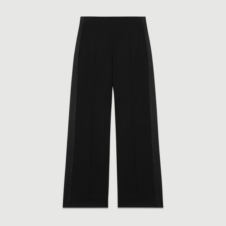 Wide pleated pants : Pants & Jeans color Black 210