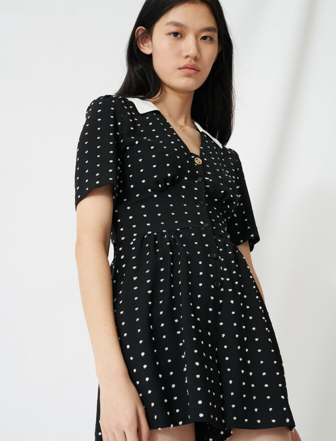 Floaty playsuit with retro polka dots - Jumpsuits & Rompers - MAJE