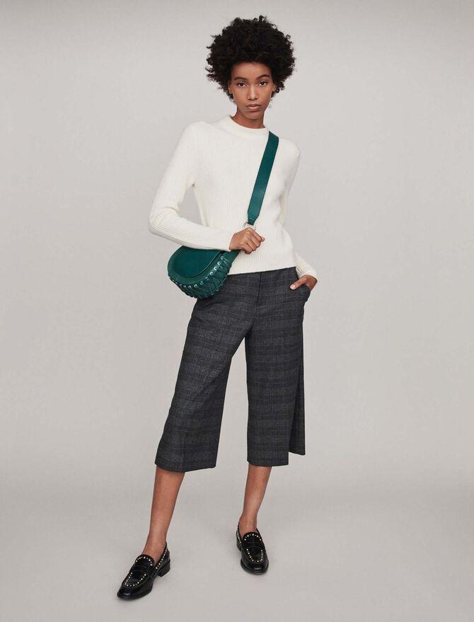 Ribbed turtleneck sweater - Sweaters - MAJE