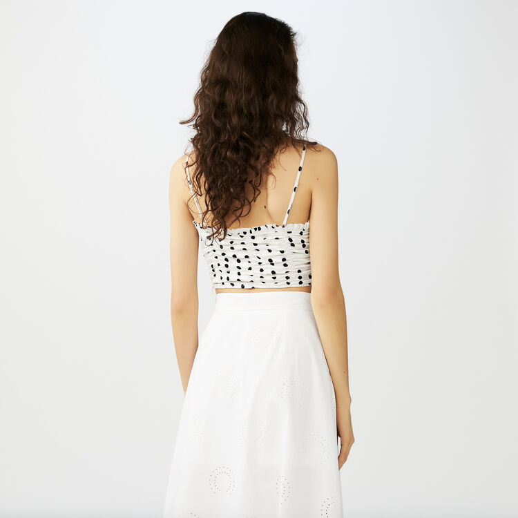 Thin strap crop top : Tops & Shirts color White