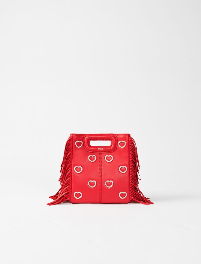 M mini bag leather and rhinestone -  - MAJE