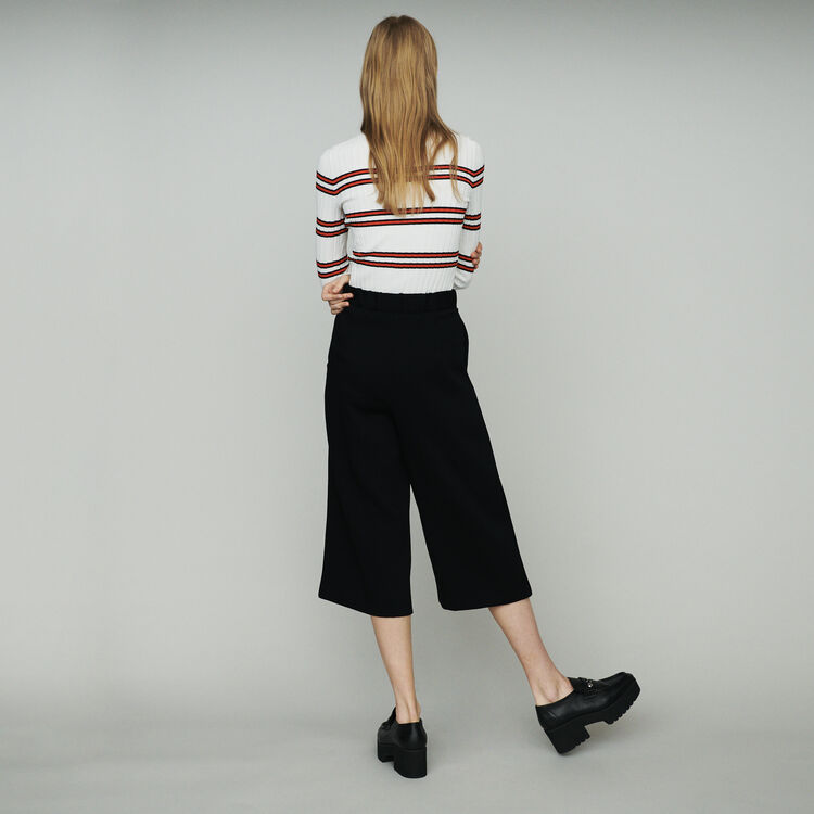 Large pants in crepe : Pants & Jeans color Black 210