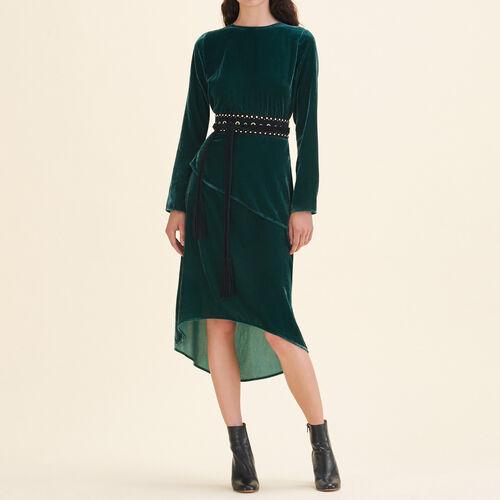 Long dresse in velvet - Dresses - MAJE