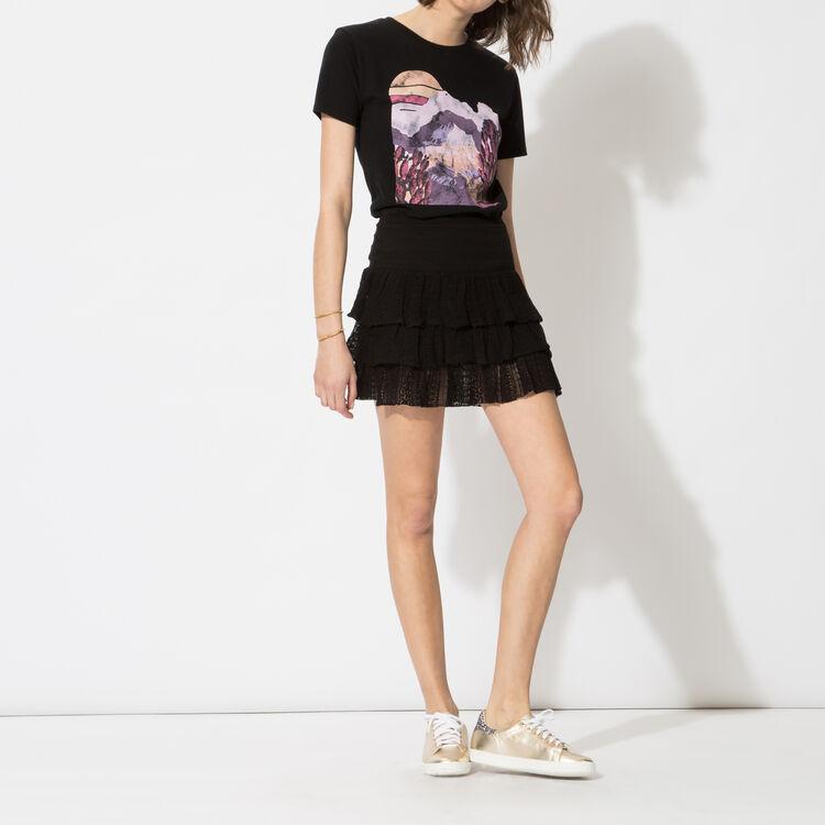 Printed cotton T-shirt : Copy of Sale color