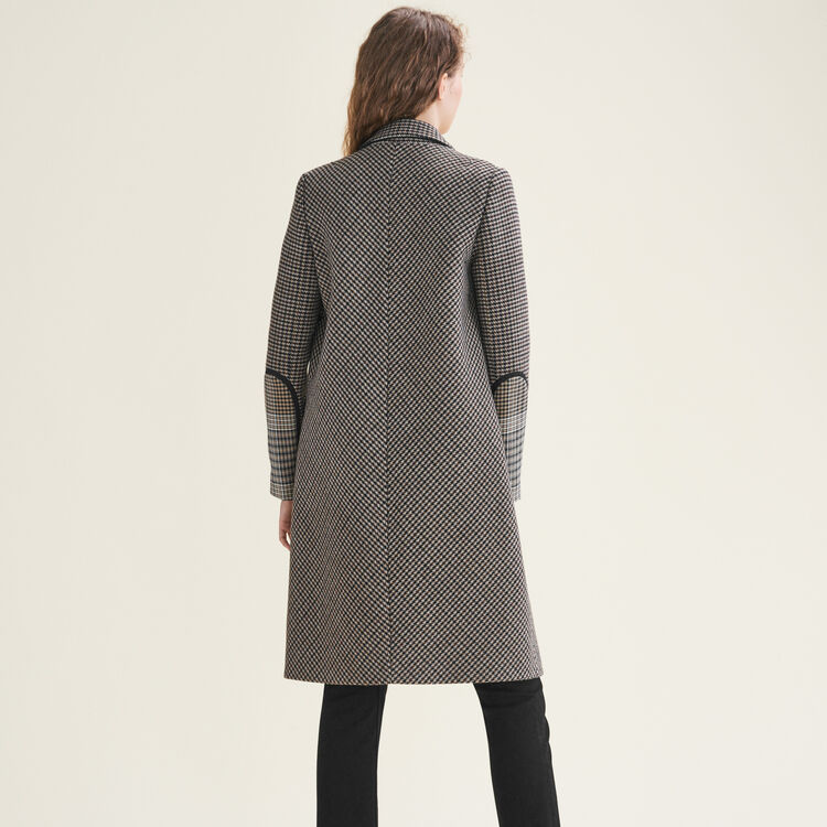 Checked coat : null color