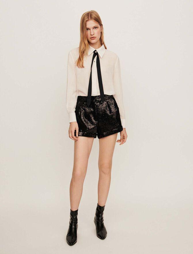 Sequin shorts - Skirts & Shorts - MAJE