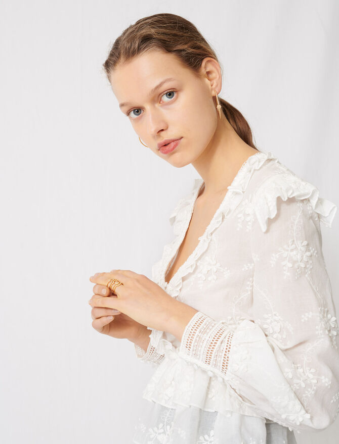Broderie anglaise top - Tops & T-Shirts - MAJE