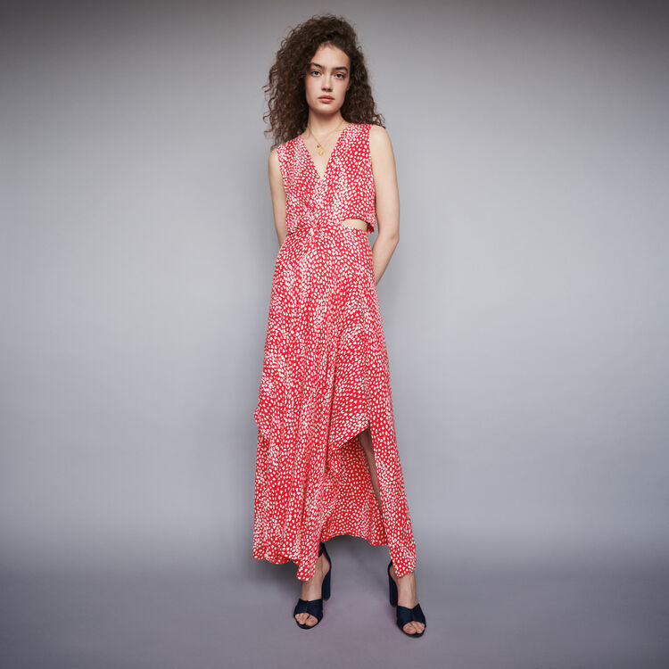 6f62798e1d03 Dresses true Jacquard-printed long knotted dress : Dresses color Red