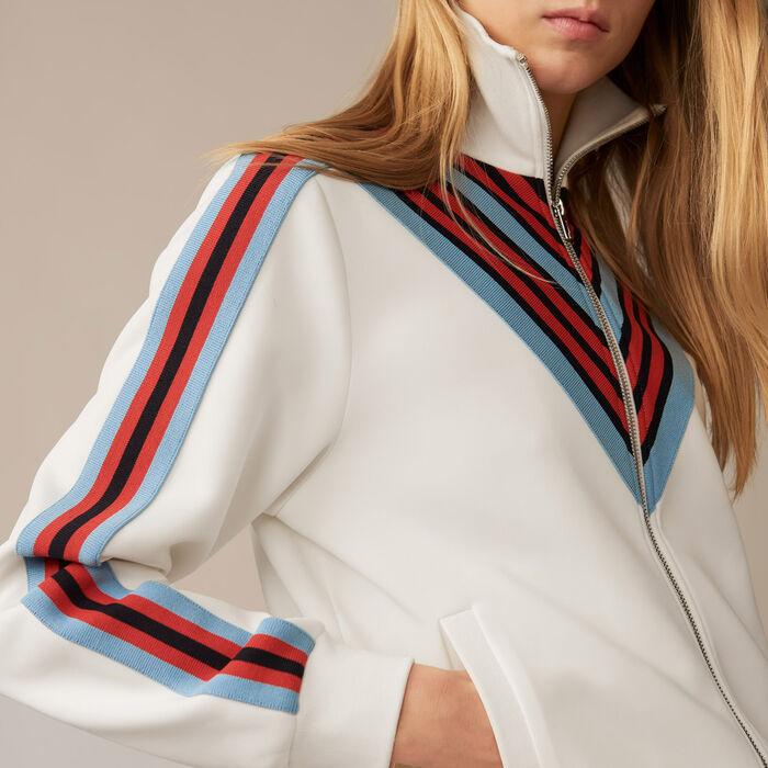 Track jacket : Coats & Jackets color WHITE