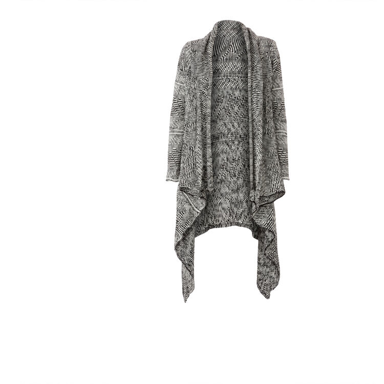 Oversize jacquard knit cardigan : Copy of Sale color