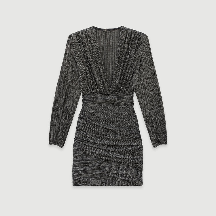 Lurex draped dress : Fall Pre-Collection color Silver