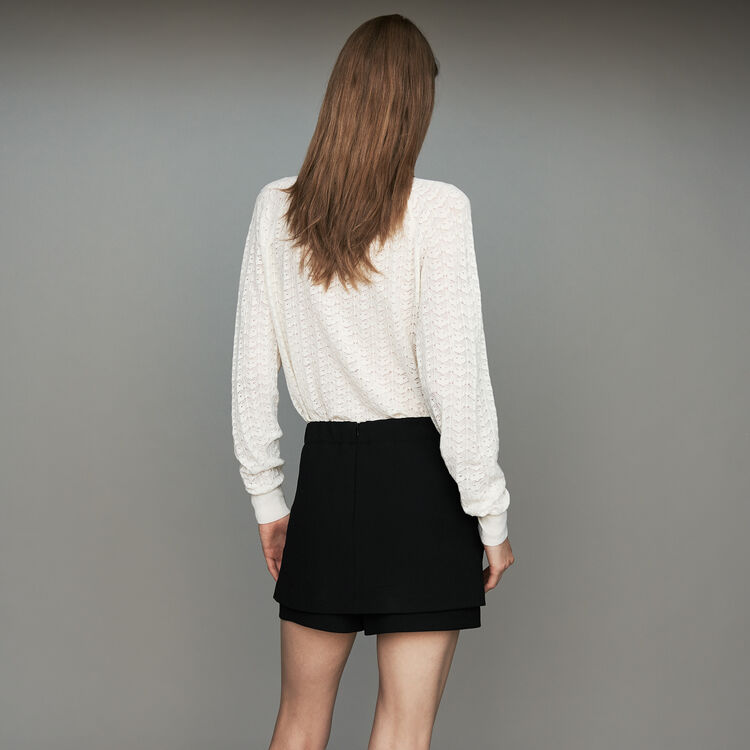 Crepe skort : The Spring Essentials color Black 210