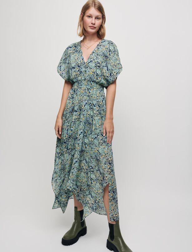 Maje Printed chiffon scarf dress