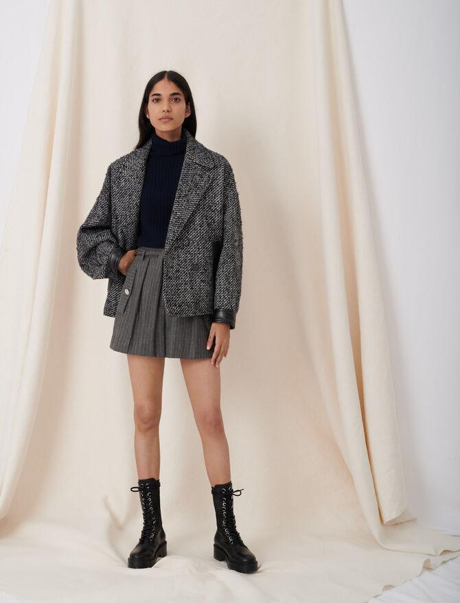 Marl blouson-style coat - Coats & Jackets - MAJE