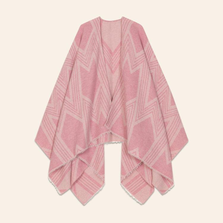 M print poncho : Scarves color Pink
