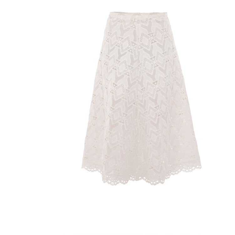 Long lace skirt : Features color