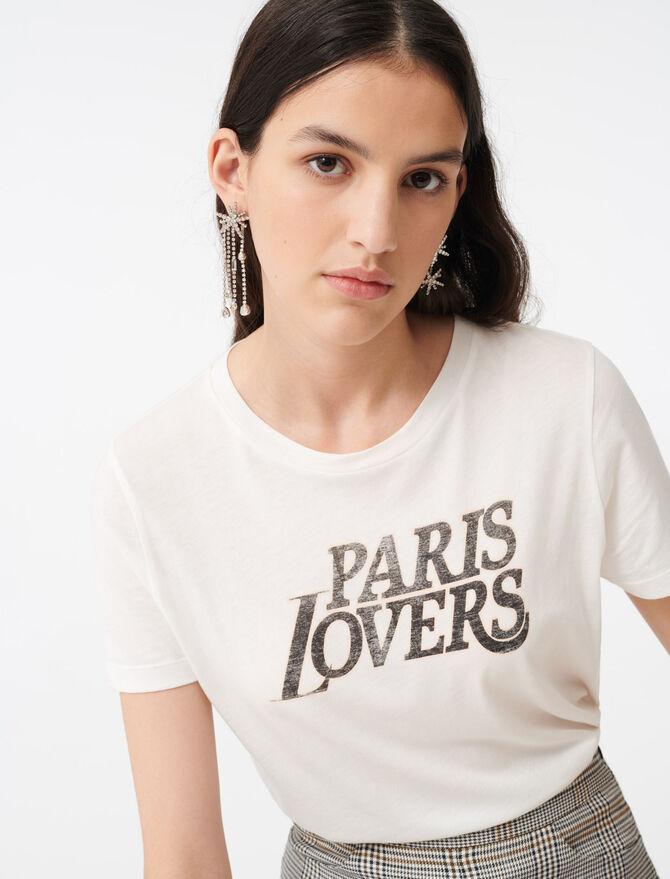 Silkscreen printed T-shirt - Tops & Shirts - MAJE