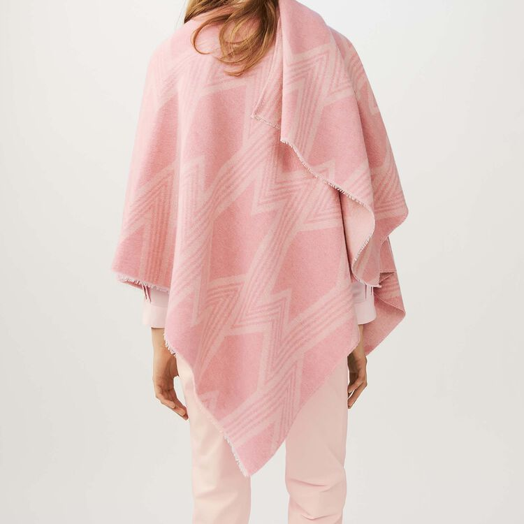 M print poncho : Shoes & Accessories color Pink