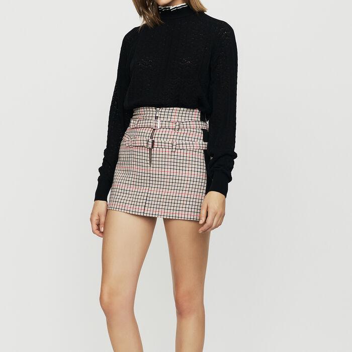 Motif Sweater In Chevron Knit Sweaters Maje Com