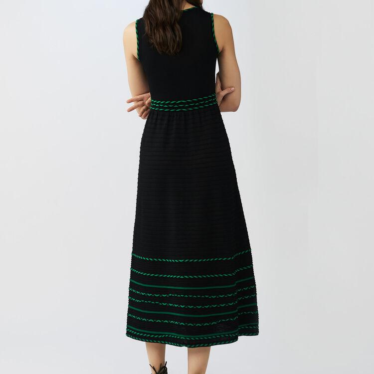 Long sleeveless knit dress : Dresses color Black 210