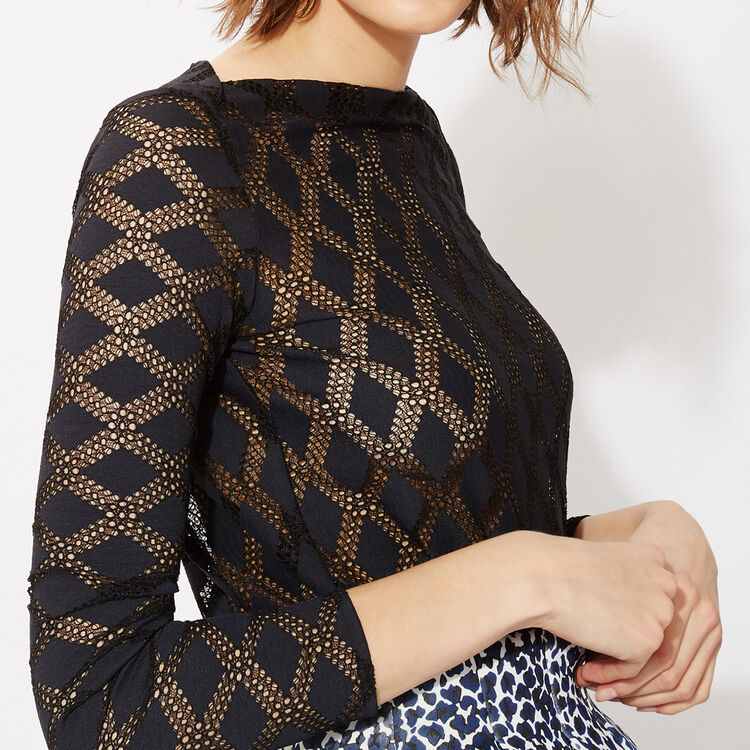 Long-sleeved lace top : Copy of Sale color