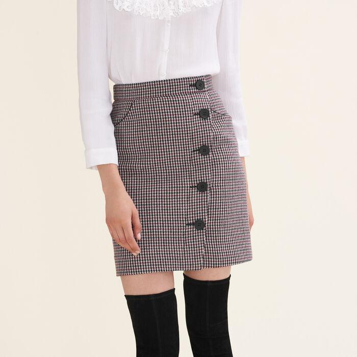 Houndstooth check short skirt : Skirts & Shorts color Jacquard