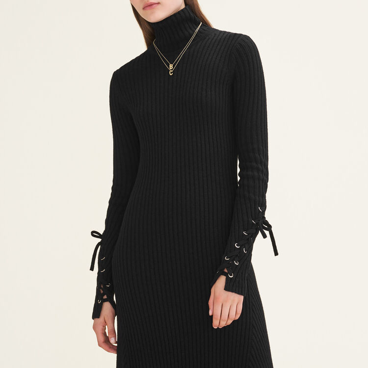 Long tube-knit dress : null color