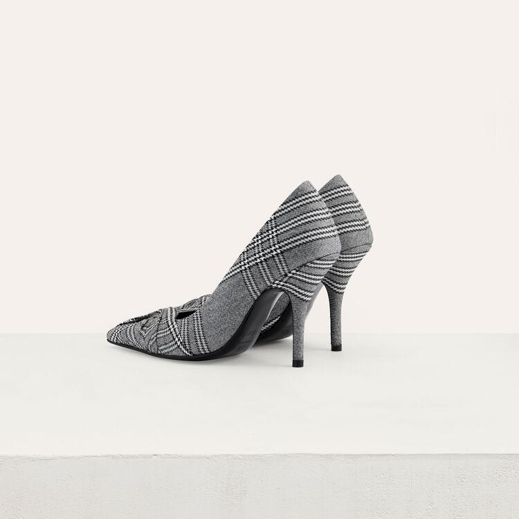 Draped pumps in Prince of Wales plaid : Shoes color CARREAUX