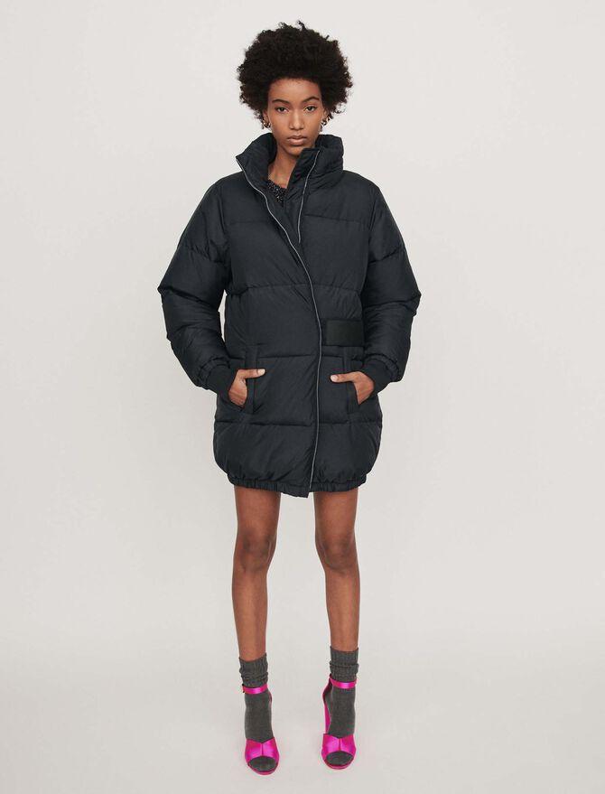 Long hooded puffer coat - Coats & Jackets - MAJE