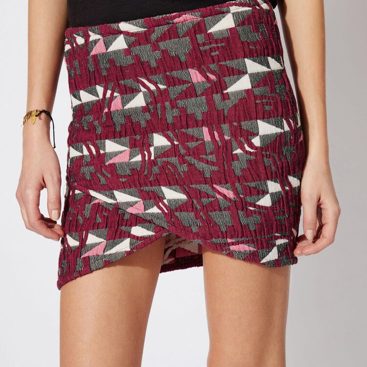 JACQUARD SKIRT WITH GATHERS : Copy of Sale color