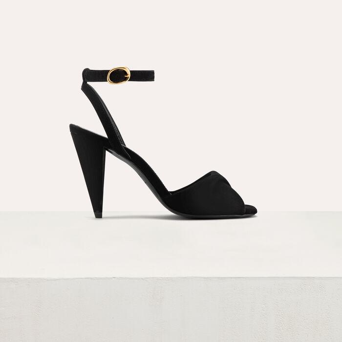 Leather high heals sandals : Shoes & Accessories color Black 210