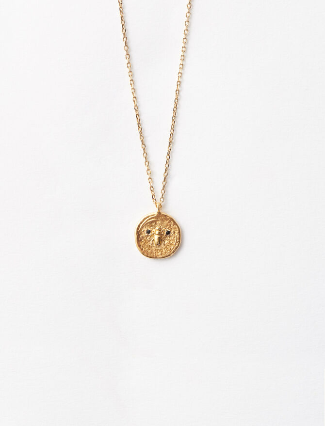 """Necklace with medallion """"Ma puce"""" -  - MAJE"""