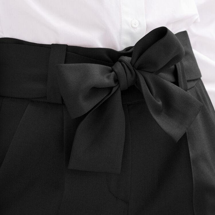 Low-slung belted pants : Pants & Jeans color Black