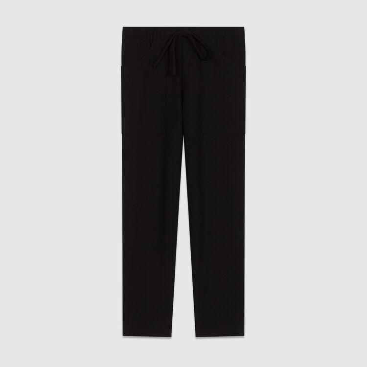 Crepe wide leg pants : Pants & Jeans color Navy
