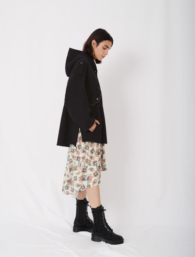 Double face coat with hood - Coats & Jackets - MAJE