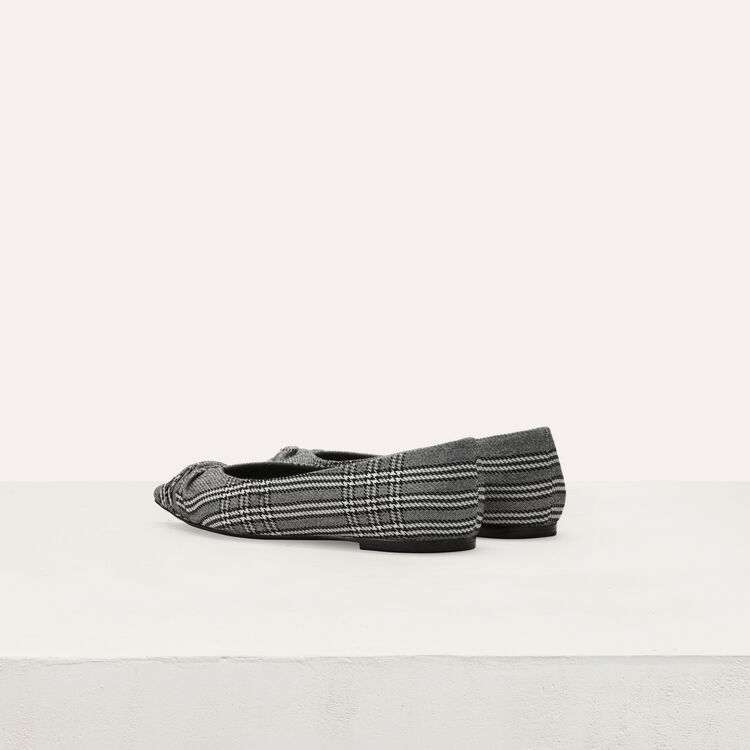 Flat pumps in Prince of Wales plaid : Shoes color CARREAUX
