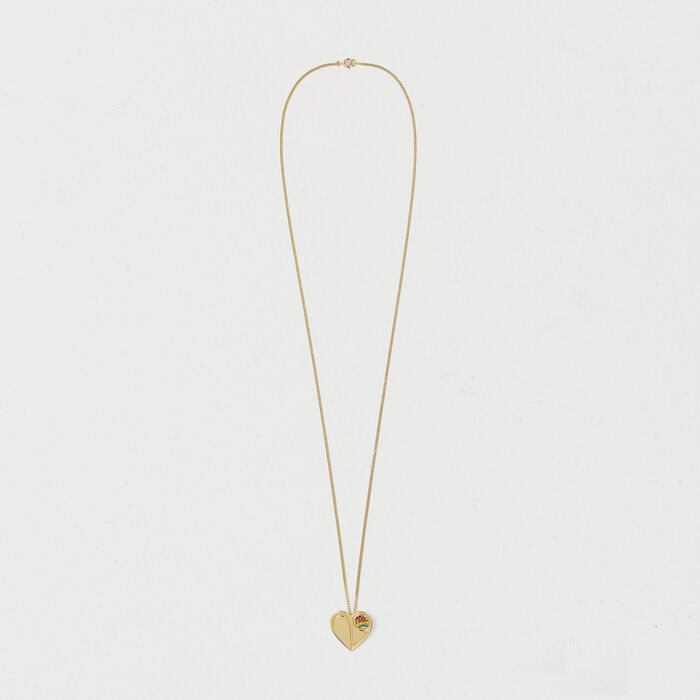 Necklace with heart medallion : Jewelry color GOLD