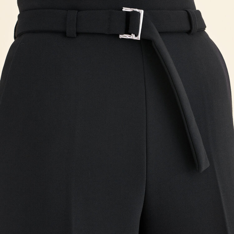 Wide high-waisted trousers : The Spring Essentials color Black 210