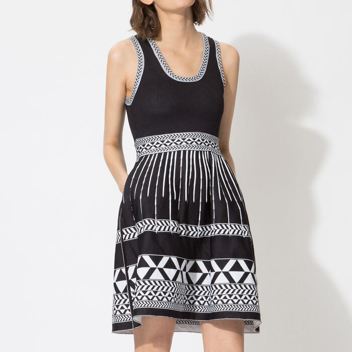 Jacquard knit sleeveless dress  : Spring Collection 2015 color
