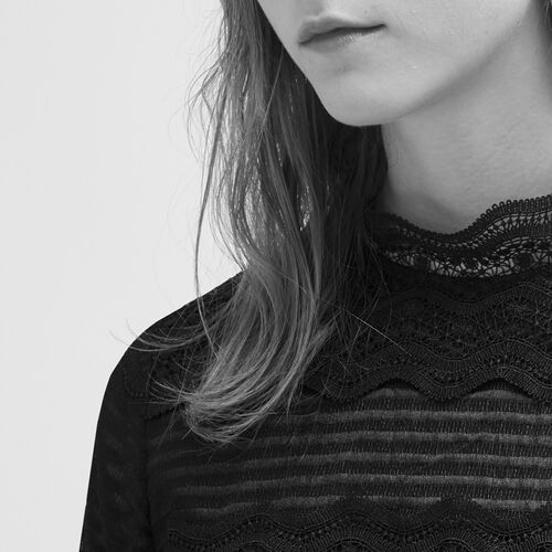 Cropped lace top - Tops & T-Shirts - MAJE