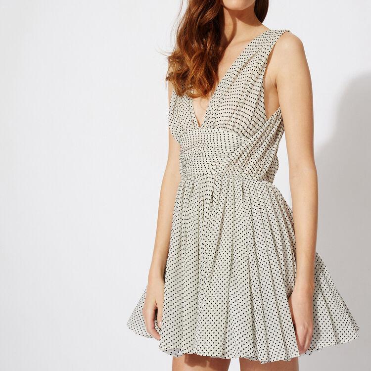 BACKLESS POLKA DOT PRINTED DRESS : Copy of Sale color