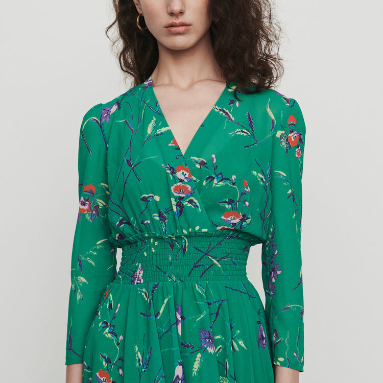 28428e19df1b RAYEMA Long dress in floral print - Dresses - Maje.com