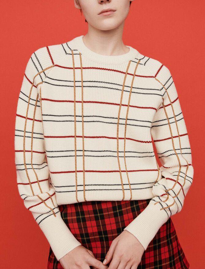 Plaid jacquard sweater - Sweaters - MAJE