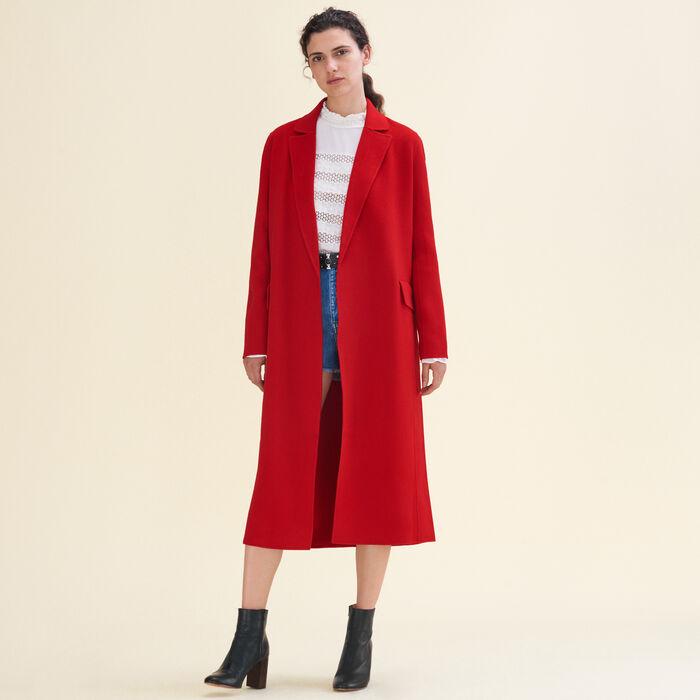 GEODE Long double-sided wool coat - Coats & Jackets - Maje.com
