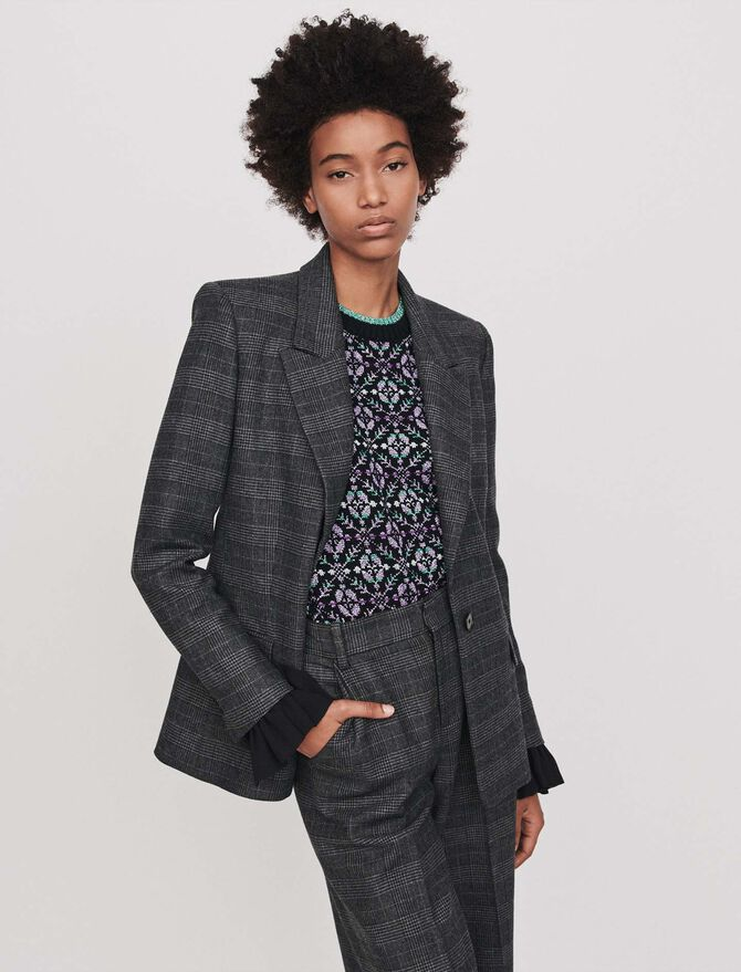 Prince of Wales jacket - Coats & Jackets - MAJE