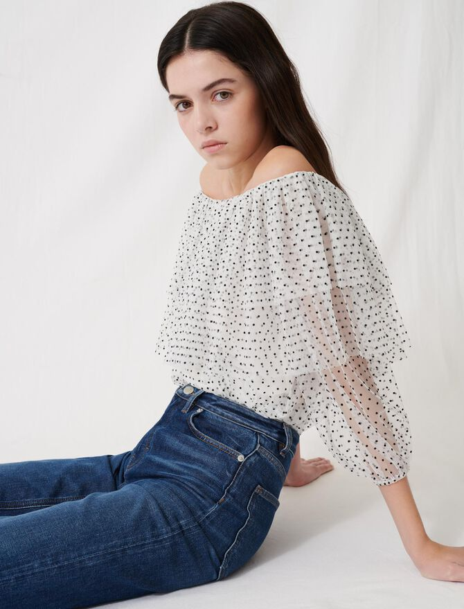 Loose top with ruffles - Tops & T-Shirts - MAJE