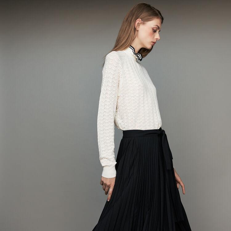 Sweater in chevron knit : Sweaters color Black 210
