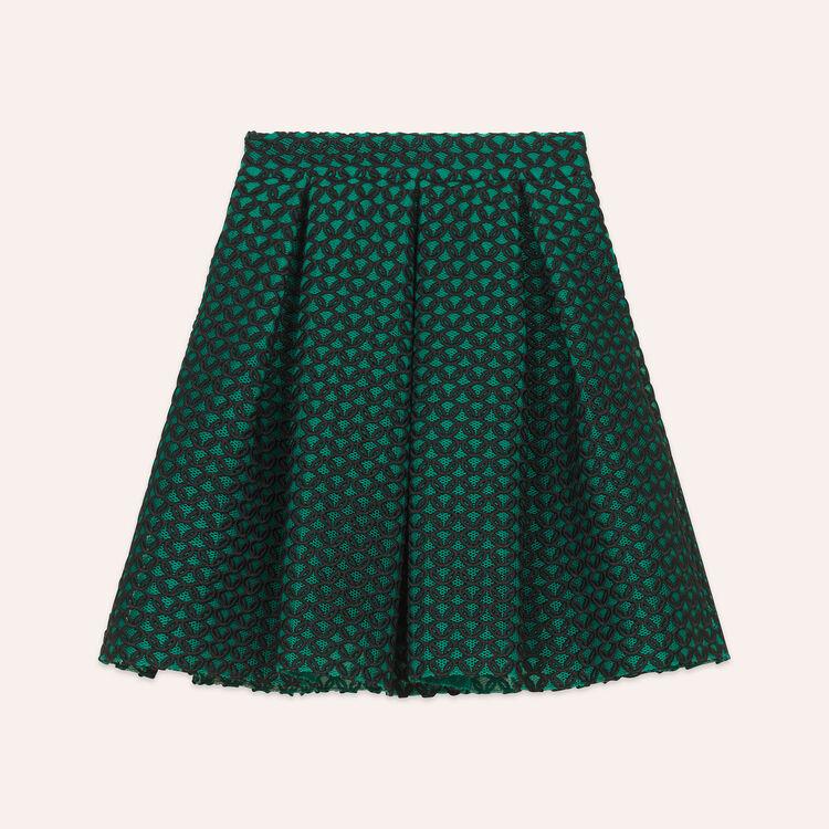 Bonded guipure skater skirt - Skirts & Shorts - MAJE