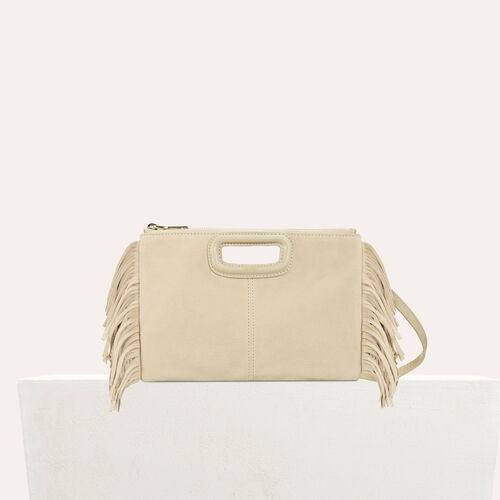 M Duo clutch in suede : New Collection color Beige